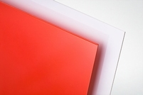Polystyreen plaat rood mat