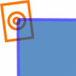 acrylaat vierkant staf fluor blauw 500x40x40mm
