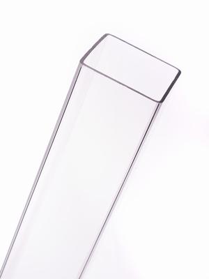 acrylaat vierkante buis transparant 1000x52x52mm