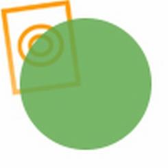 Acrylaat rond staf transparant  groen