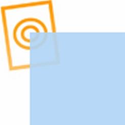 PVC folie transparant licht blauw