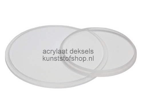Acrylaat deksel voor buis D: 20/2 mm