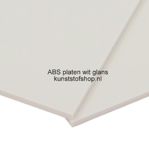 abs plaat wit glans