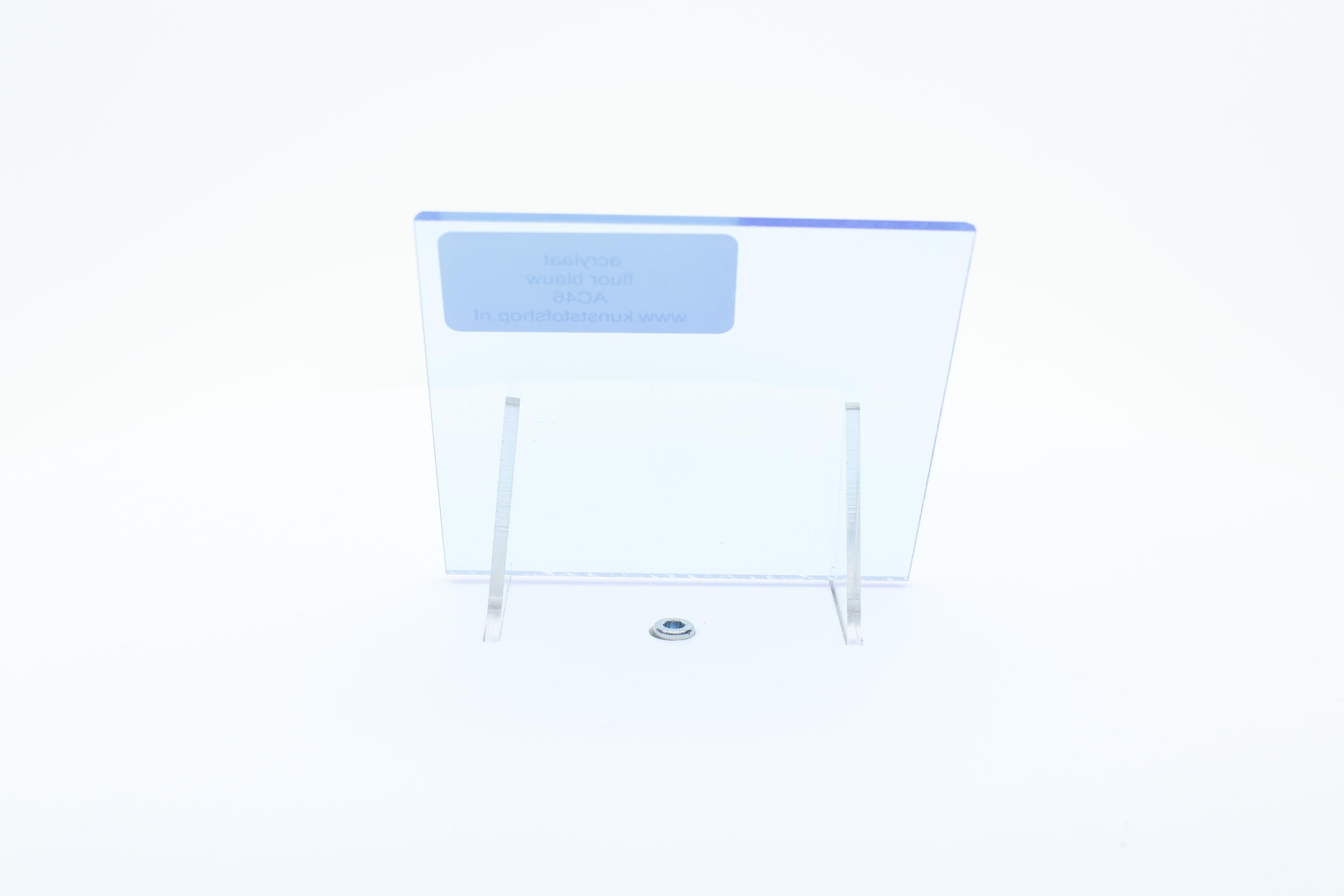 acrylaat plaat fluor  blauw AC46