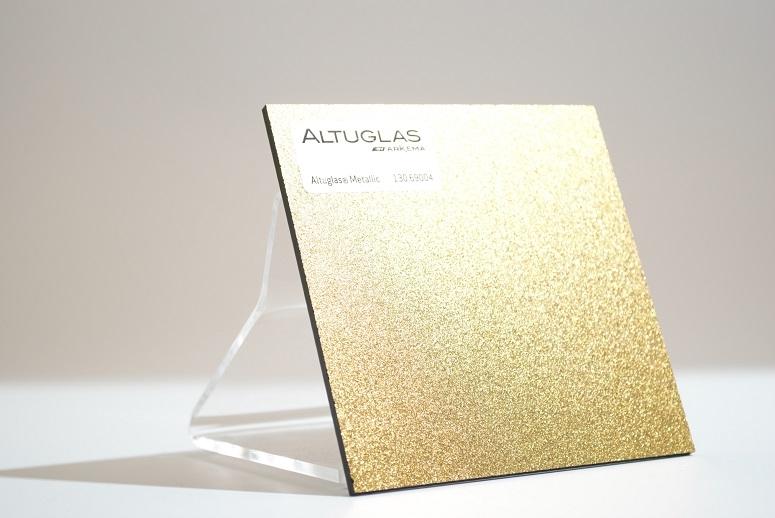 acrylaat plaat metallic goud AC9004