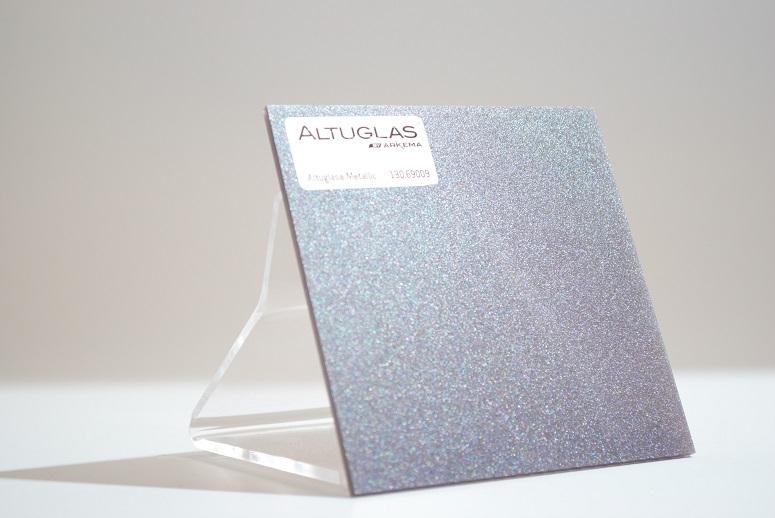 Acrylaat plaat metallic grijs AC9009