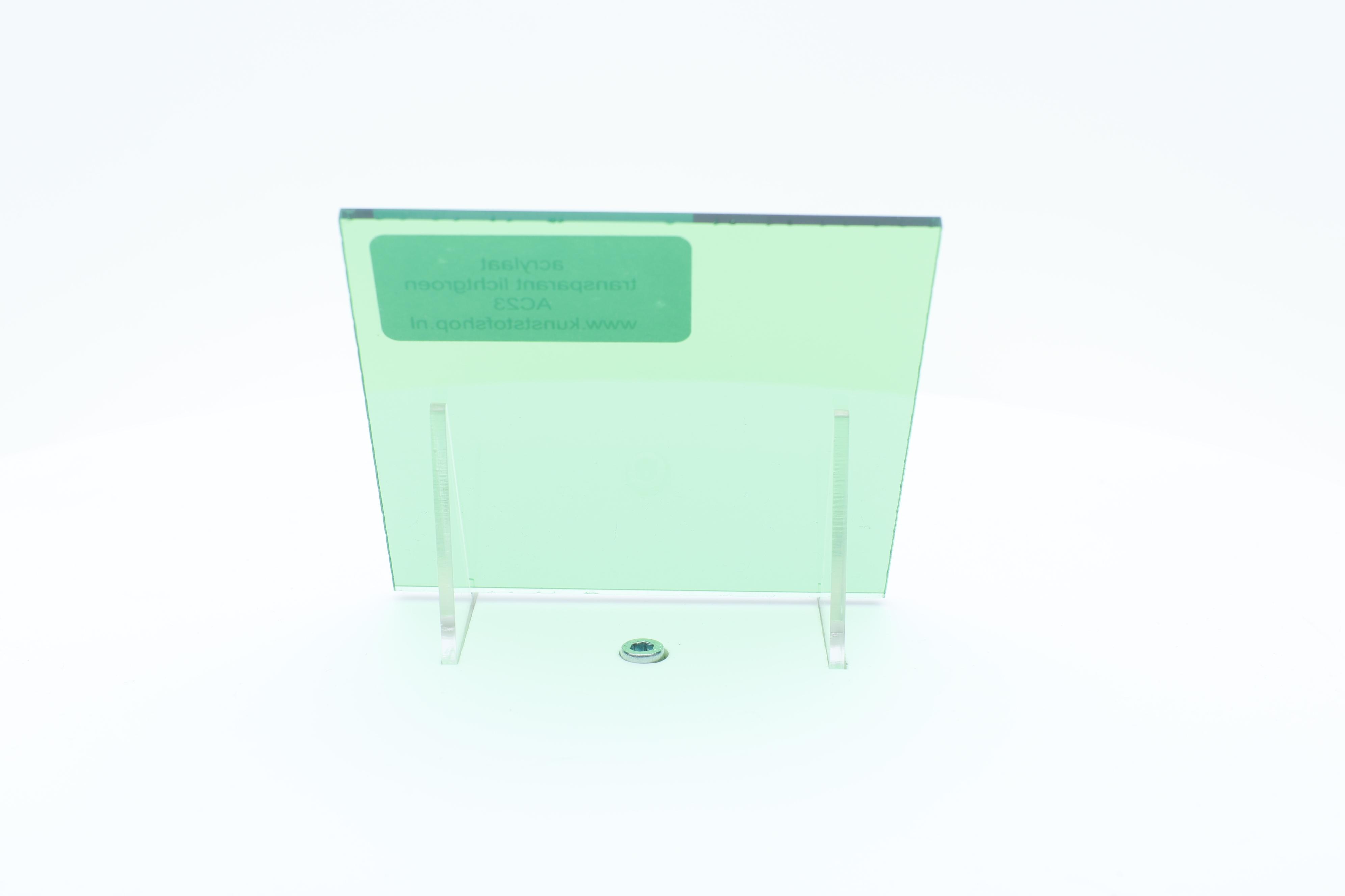 acrylaat plaat transparant lichtgroen AC23