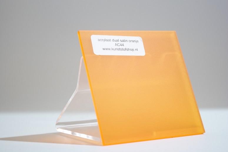 acrylaat plaat transparant oranje mat/mat AC44