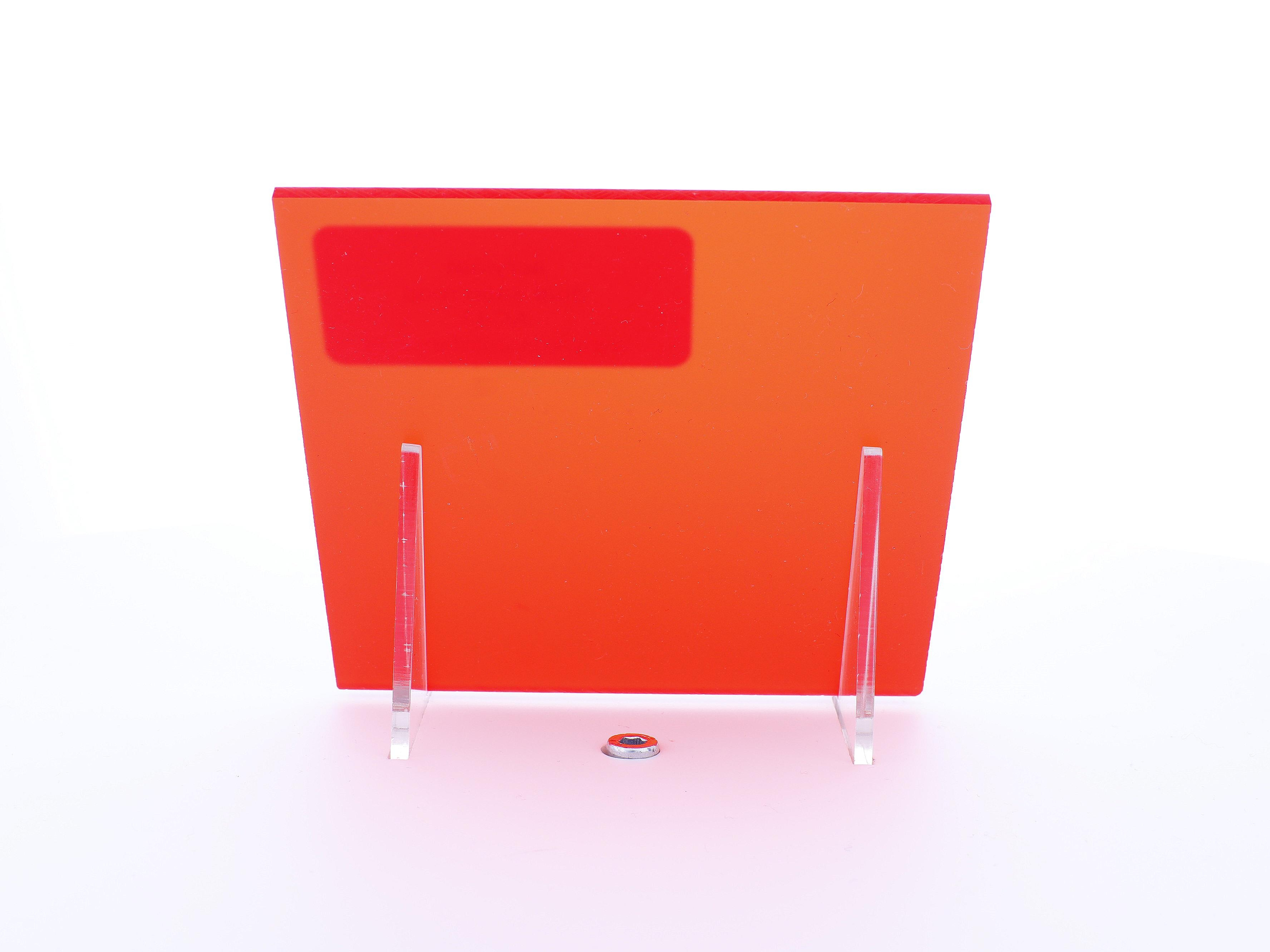 acrylaat plaat transparant rood  mat/mat AC43
