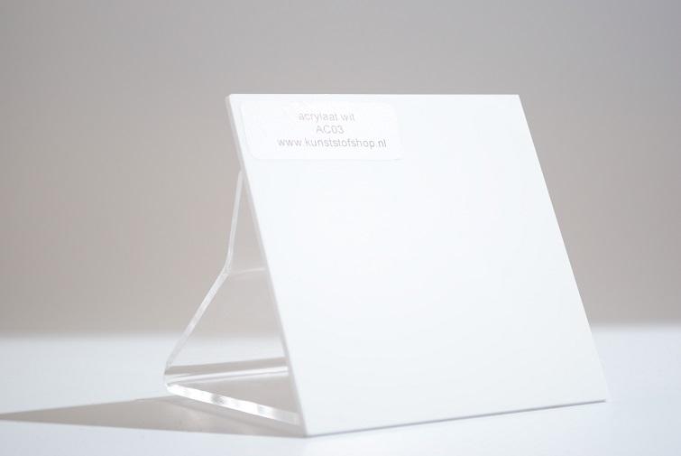acrylaat plaat wit glans AC02