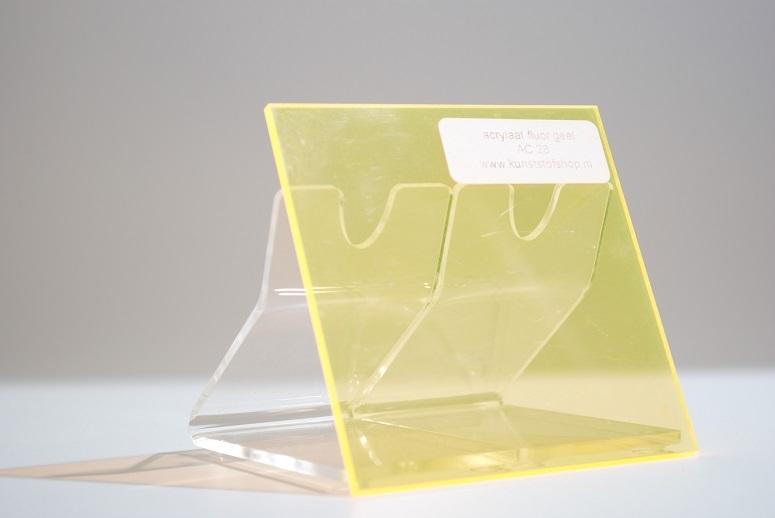 monster acrylaat transparant fluor geel  AC 28