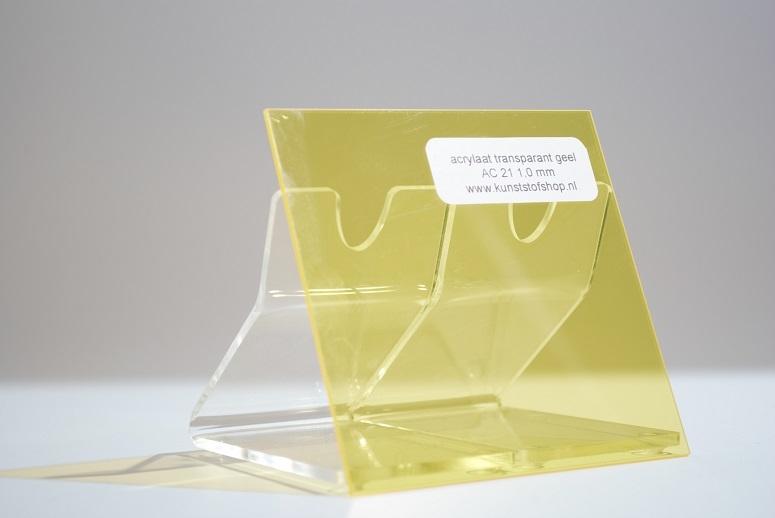 monster acrylaat transparant geel AC21