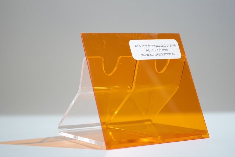 monster acrylaat transparant oranje AC18