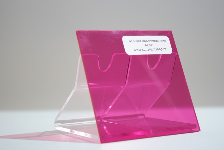 monster acrylaat transparant roze AC26