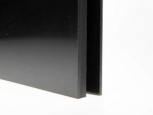 Polyethyleen plaat zwart