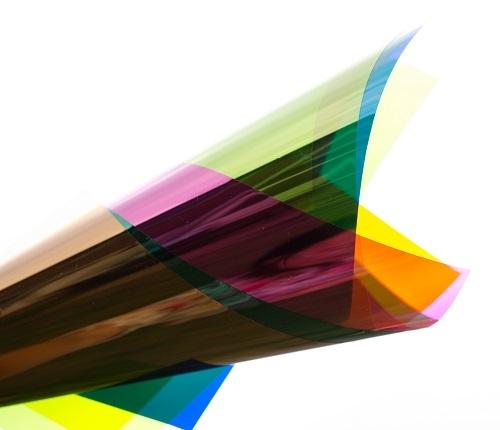 PVC folie transparant sky blauw E068