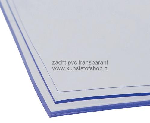 zacht pvc transparant 3 mm