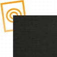 A4 polystyreen zwart glans