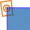 acrylaat vierkant staf fluor blauw 1000x40x40mm