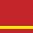 graveerplaat rood-geel 610x610x1,6mm