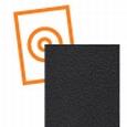 kydex plaat zwart een zijde fijne nerf P3 2440x1220x2mm