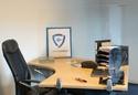 Transparante scherm met klemmen voor buro