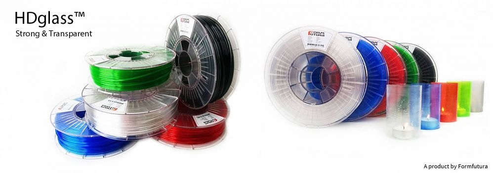 Polyester en rubber filamenten