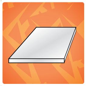 pvc platen (dikte = > 1,0 mm)